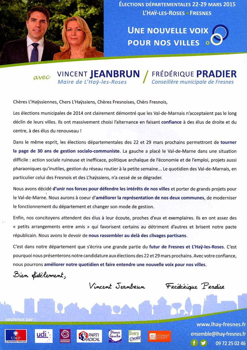 Tract declaration cansidature